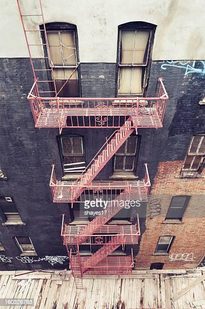 Grungy fire escape