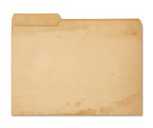 Grungy Manila Folder isolated on white (excluding the shadow)