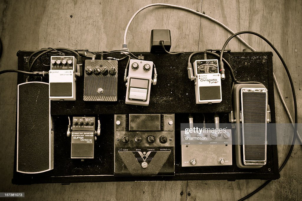 Grungy Guitar Pedals : Stock Photo