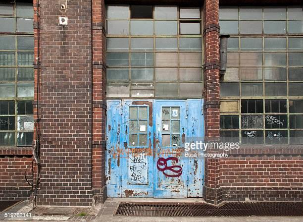 Grungy industrial wall in Kreuzberg, Berlin