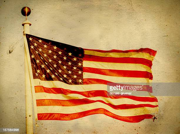Grungy Old American Flag