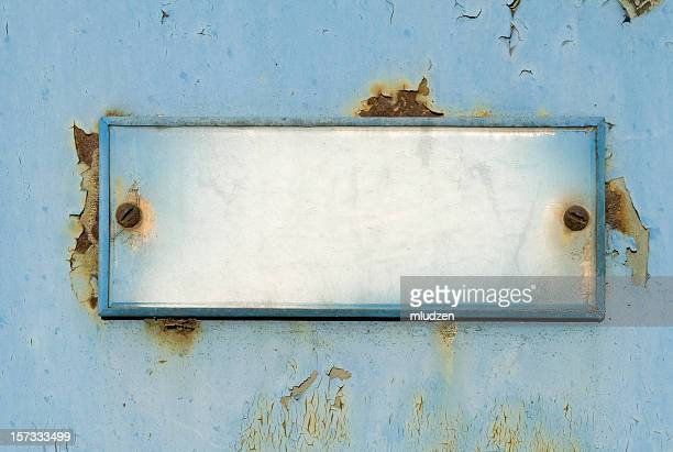 Grungy old  doorplate