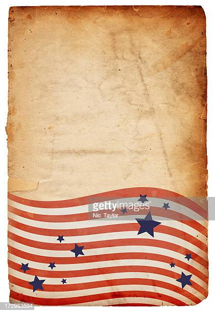Grungy Patriotic Stars and Stripes Background: XXXL Paper