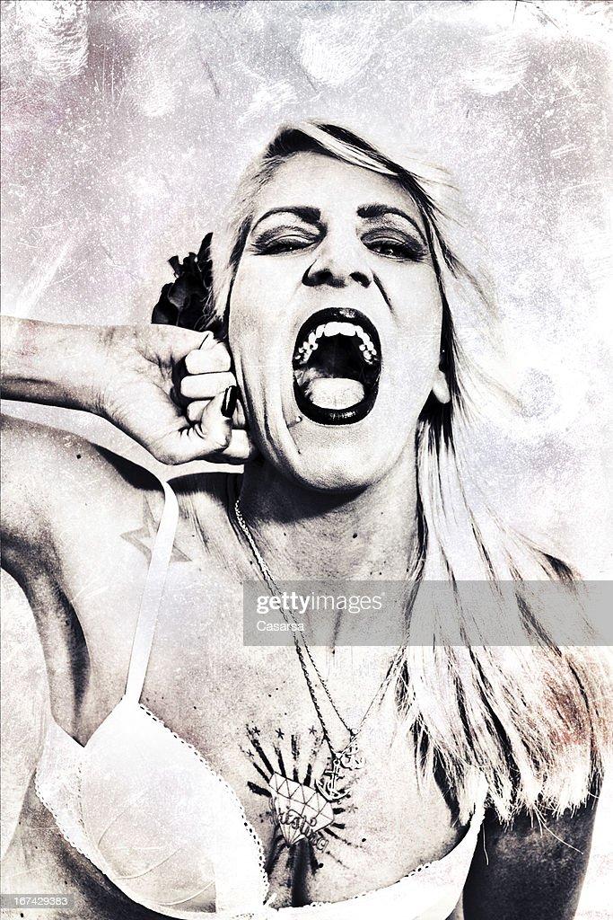 Grungy retrato : Foto de stock