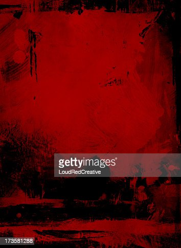 Grungy red and black farm landscape
