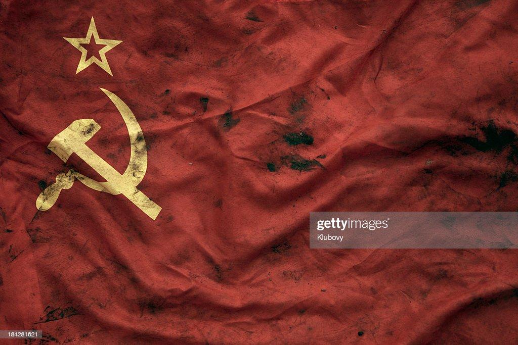 Grungy Soviet Union Flag