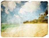 Grungy Tropical Postcard (Clipping Path; XXL)