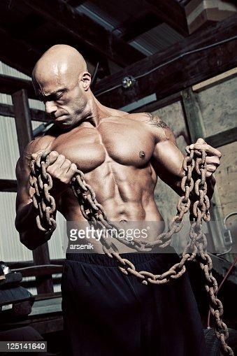 Grungy workout : Stock Photo