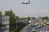 A Grupo Aeromexico SAB plane prepares to land at the Benito Juarez International Airport in Mexico City Mexico on Monday July 18 2016 Aeromexico is...