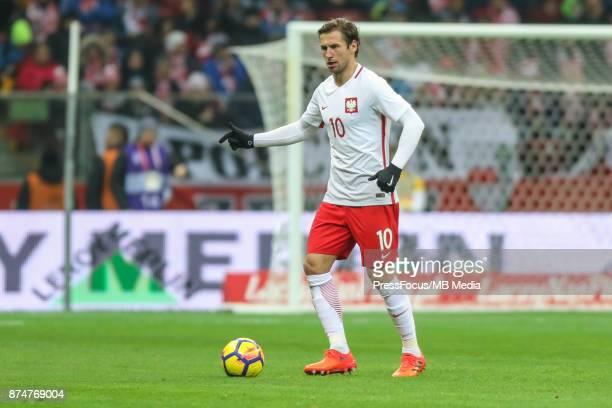 Grzegorz Krychowiak of Poland during international friendly match between Poland and Uruguay at National Stadium on November 10 2017 in Warsaw Poland