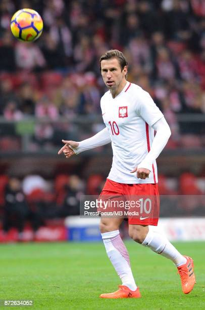 Grzegorz Krychowiak of Poland during the international friendly match between Poland and Uruguay at National Stadium on November 10 2017 in Warsaw...