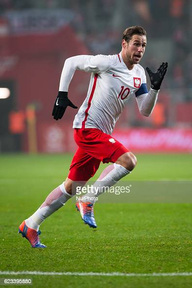 Grzegorz Krychowiak of Poland during the international friendly football match Poland vs Slovenia on November 14 2016 in Wroclaw