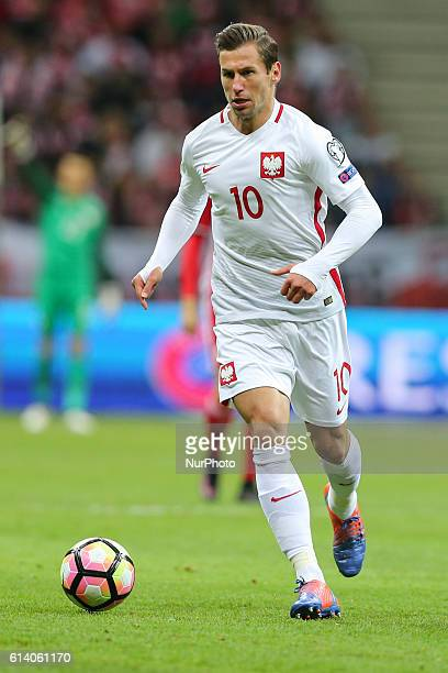 Grzegorz Krychowiak of Poland in action during the WC 2018 football qualification match between Poland and Armenia in Warsaw Poland on October 11 2016