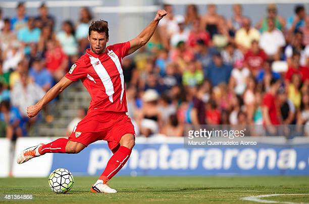 Grzegorz Krychowiak of Sevilla in action during a Pre Season Friendly match between Sevilla and Alcorcon at Pinatar Arena Stadium on July 19 2015 in...