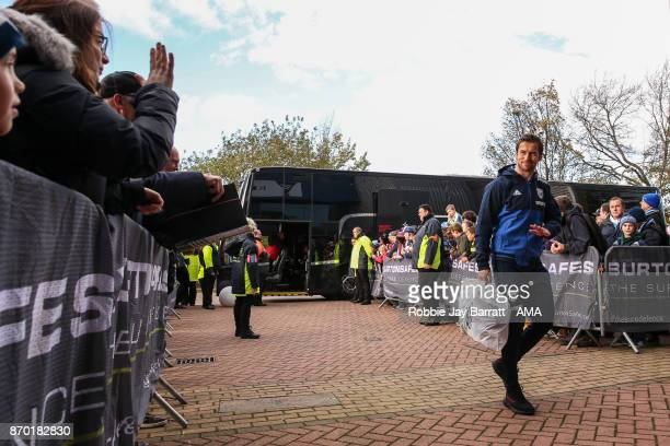 Grzegorz Krychowiak of West Bromwich Albion arrives prior to the Premier League match between Huddersfield Town and West Bromwich Albion at John...