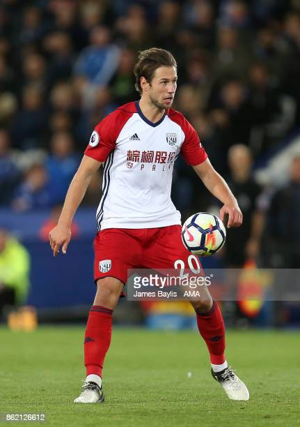 Grzegorz Krychowiak of West Bromwich Albion during the Premier League match between Leicester City and West Bromwich Albion at The King Power Stadium...