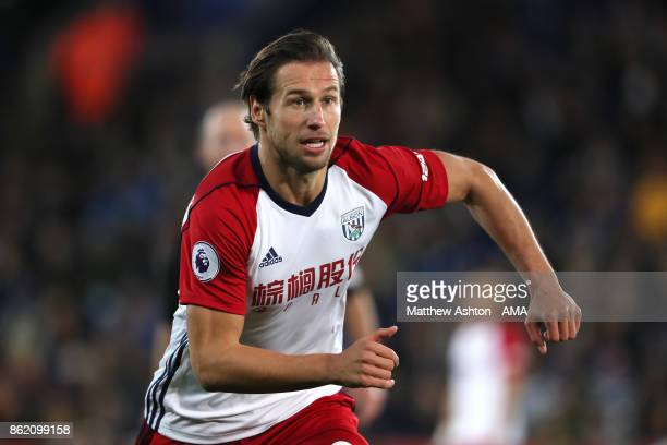 Grzegorz Krychowiak of West Bromwich Albion in action during the Premier League match between Leicester City and West Bromwich Albion at King Power...