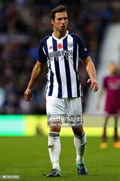 Grzegorz Krychowiak of West Bromwich Albion looks on during the Premier League match between West Bromwich Albion and Manchester City at The...
