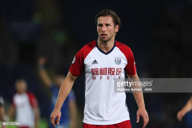 Grzegorz Krychowiak of West Bromwich Albion of West Bromwich Albion in action during the Premier League match between Leicester City and West...