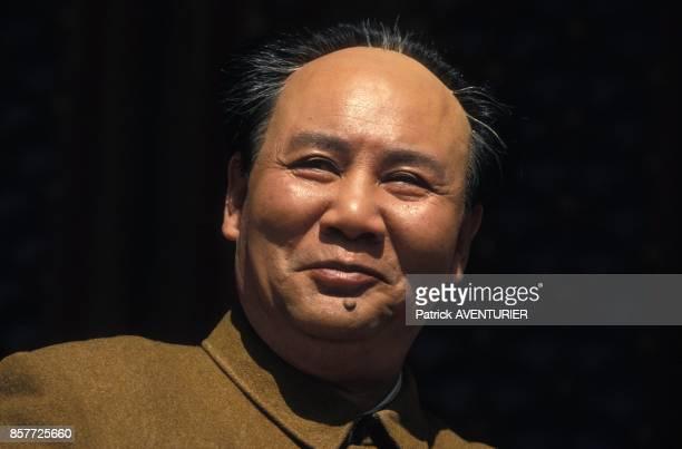 Gu Yue l'acteur qui incarne Mao Tse Toung sur le plateau d'un film retracant la vie du dirigeant chinois mis en scene par Cai Jiwei en octobre 1993...