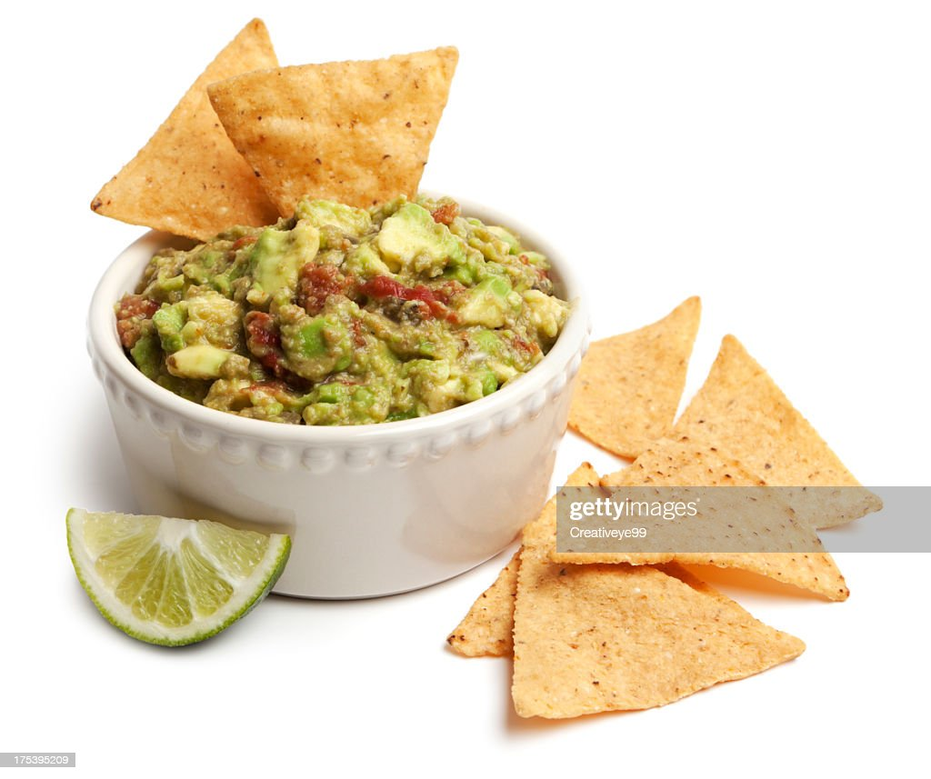 Guacamole and chips : Stock Photo