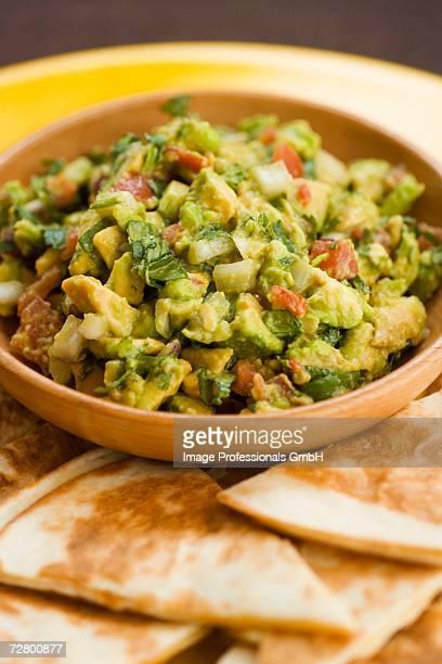 Guacamole with quesadillas