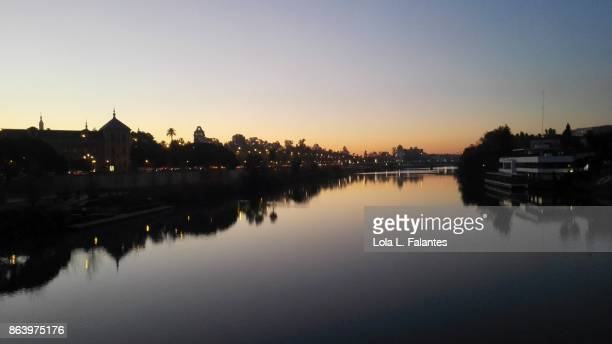 Guadalquivir river at sunrise