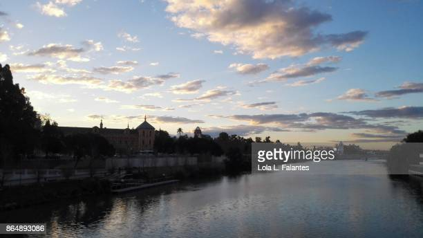 Guadalquivir river at sunrise. Seville
