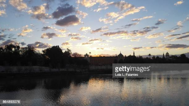 Guadalquivir river at sunrise. Seville, Spain