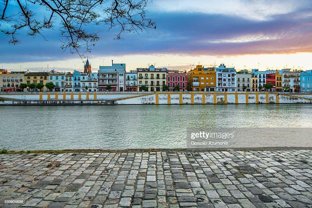 Guadalquivir river in Seville : Stock Photo