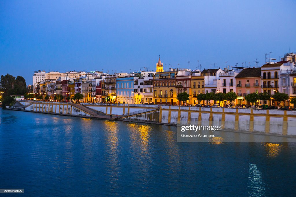 Guadalquivir river in Seville. : Stock Photo