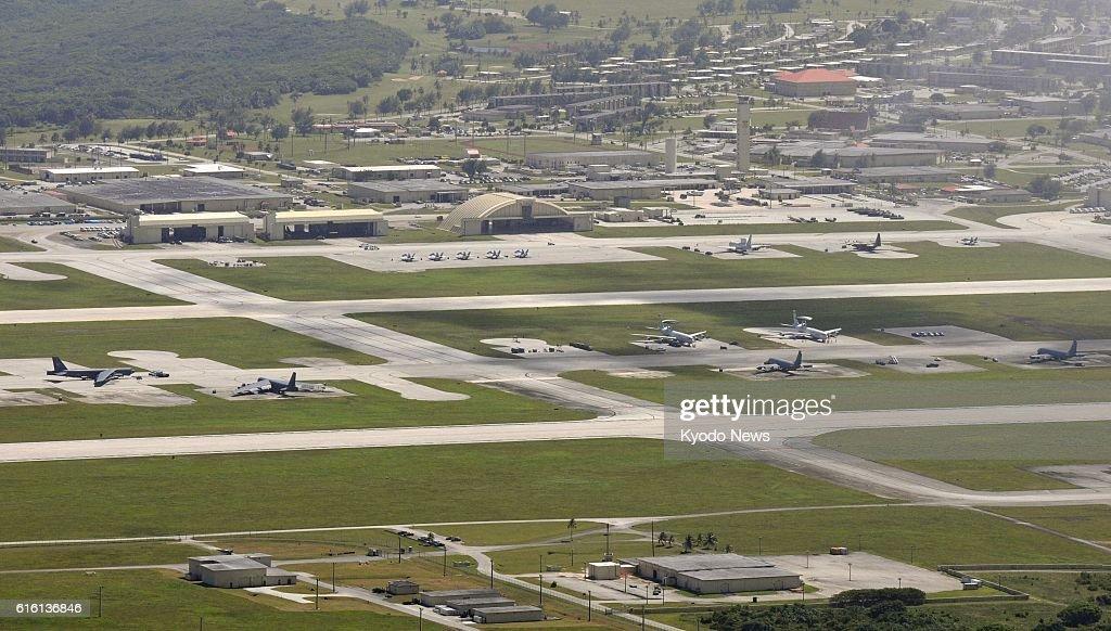 Guam - File photo shows Andersen U.S. Air Force Base in Guam in February 2012.