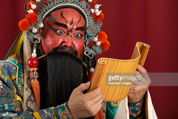 Guang Gong, Ancient Chinese General in Beijing Opera Costume, Represents Protection and Wealth