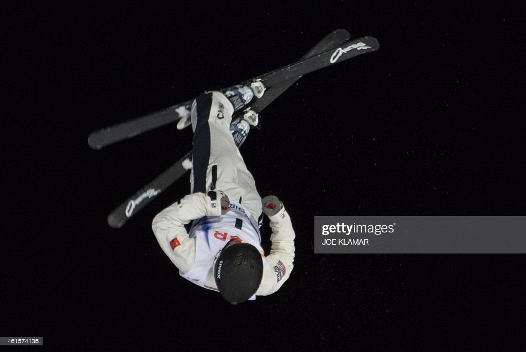 Guangpu Qi of China competes competes during the men's Aerials Finals during FIS Freestyle and Snowboarding World Ski Championships 2015 in Kreischberg, Austria on January 15, 2015.