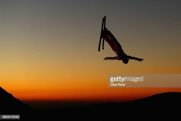 Guangpu Qi of China in action during Men's Aerials Training on day two of the FIS Freestyle Ski and Snowboard World Championships 2017 on March 9...