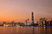 Guangzhou at Dusk Time, Guangdong, China