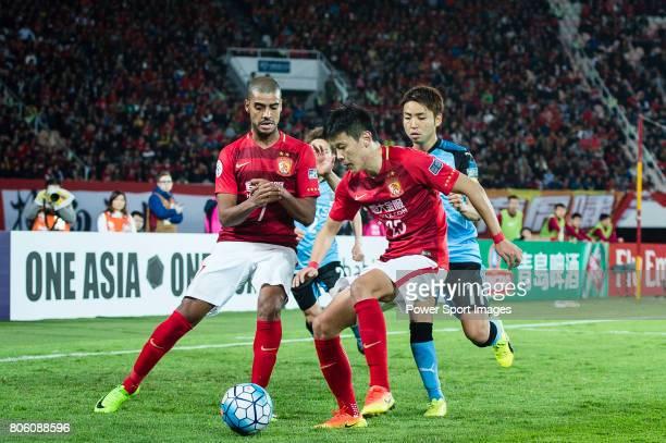 Guangzhou Defender Zou Zheng in action during the AFC Champions League 2017 Group G match between Guangzhou Evergrande FC vs Kawasaki Frontale at the...