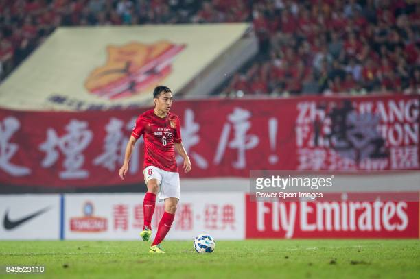 Guangzhou Evergrande defender Feng Xiaoting in action during the AFC Champions League 2015 Group Stage H match between Guangzhou Evergrande vs...