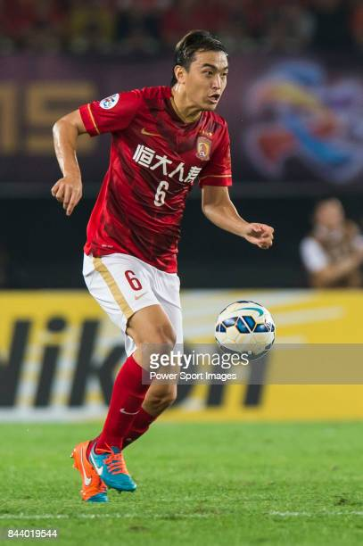 Guangzhou Evergrande defender Feng Xiaoting in action during the AFC Champions League Final Match 2nd Leg match between Guangzhou Evergrande vs Al...