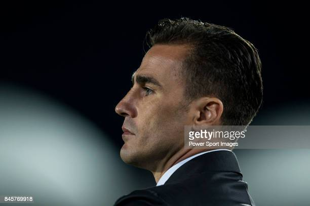 Guangzhou Evergrande Fabio Cannavaro looks during the 2015 AFC Champions League Round of 16 1st leg match between Seongnam FC and Guangzhou...