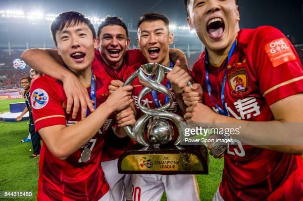 Guangzhou Evergrande midfielder Zheng Long Guangzhou Evergrande forward Elkeson De Oliveira Cardoso Guangzhou Evergrande midfielder Yu Hanchao and...