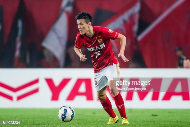 Guangzhou Evergrande midfielder Zou Zheng in action during the AFC Champions League Final Match 2nd Leg match between Guangzhou Evergrande vs Al Ahli...