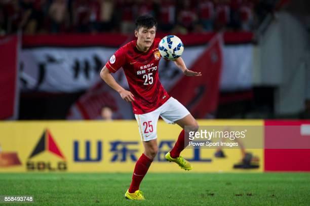Guangzhou Evergrande midfielder Zou Zheng in action during the AFC Champions League 2015 2nd Leg match between Guangzhou Evergrande and Seongnam FC...