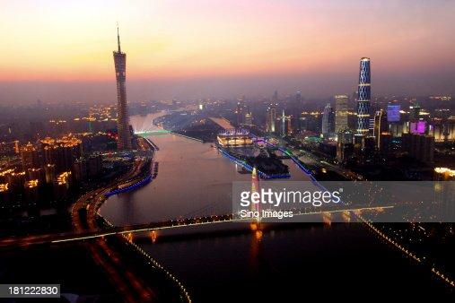 Guangzhou Financial Center at night