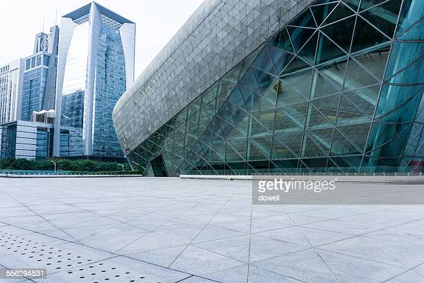 Guangzhou Grand theatre and Ascott IFC exterior