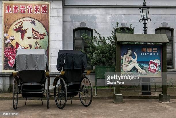 Guangzhou HongKong street reproducing the 19th century's scenery of Guangzhou and HongKong is the earliest shooting base in Hengdian Hengdian world...