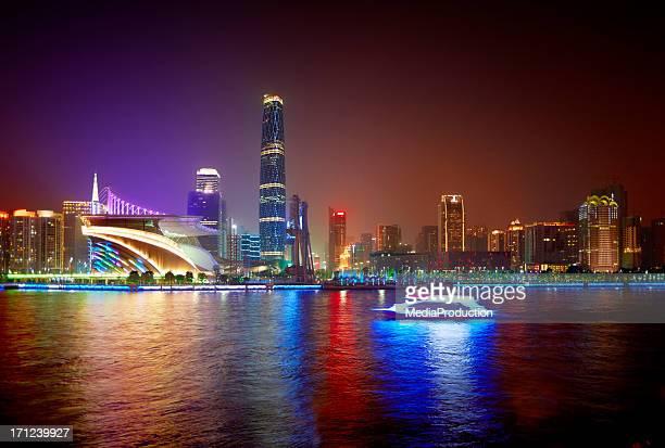 Guangzhou Pearl river night scene
