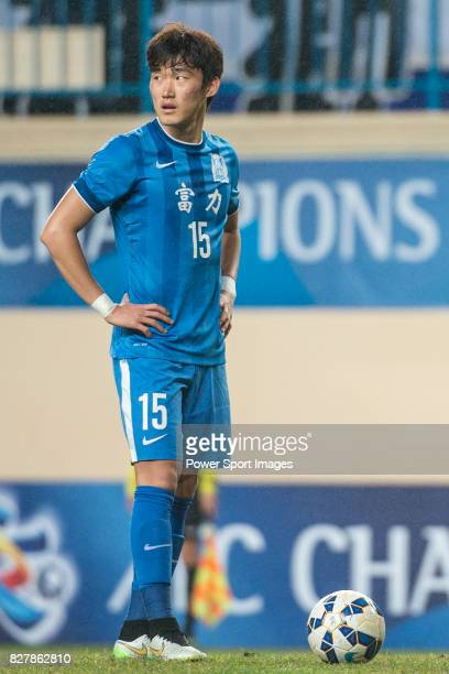 Guangzhou RF defender Jang Hyunsoo in action during the AFC Champions League 2015 Group Stage F match between Guangzhou RF vs Buriram United on 03...