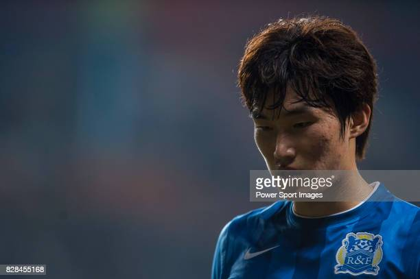 Guangzhou RF defender Jang Hyunsoo reacts during the AFC Champions League 2015 Group Stage F match between Guangzhou RF vs Seongnam FC on 17 March...