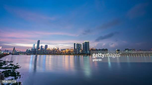 Guangzhou Skyline sunset